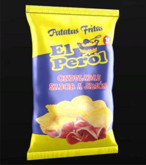 Patatas Onduladas sabor jamón